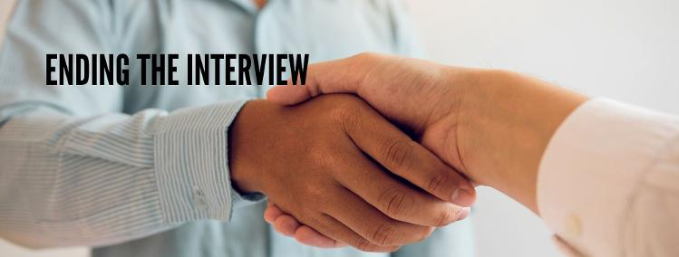 How to prepare for a job interview and how to end an interview