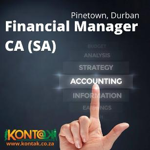 Financial Manager CA(SA) Jobs in Durban