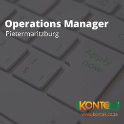 Operations Manager Vacancy in PMB