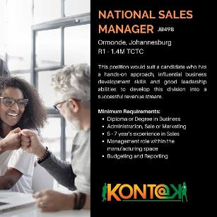 Sales Manager Jobs in Johannesburg