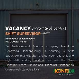 Fleet Shift Supervisor Jobs Johannesburg