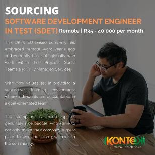 Software Development Engineer in Test ( SDET) working remote vacancies