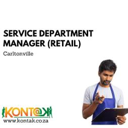Service Department Manager Retail Jobs Carltonville